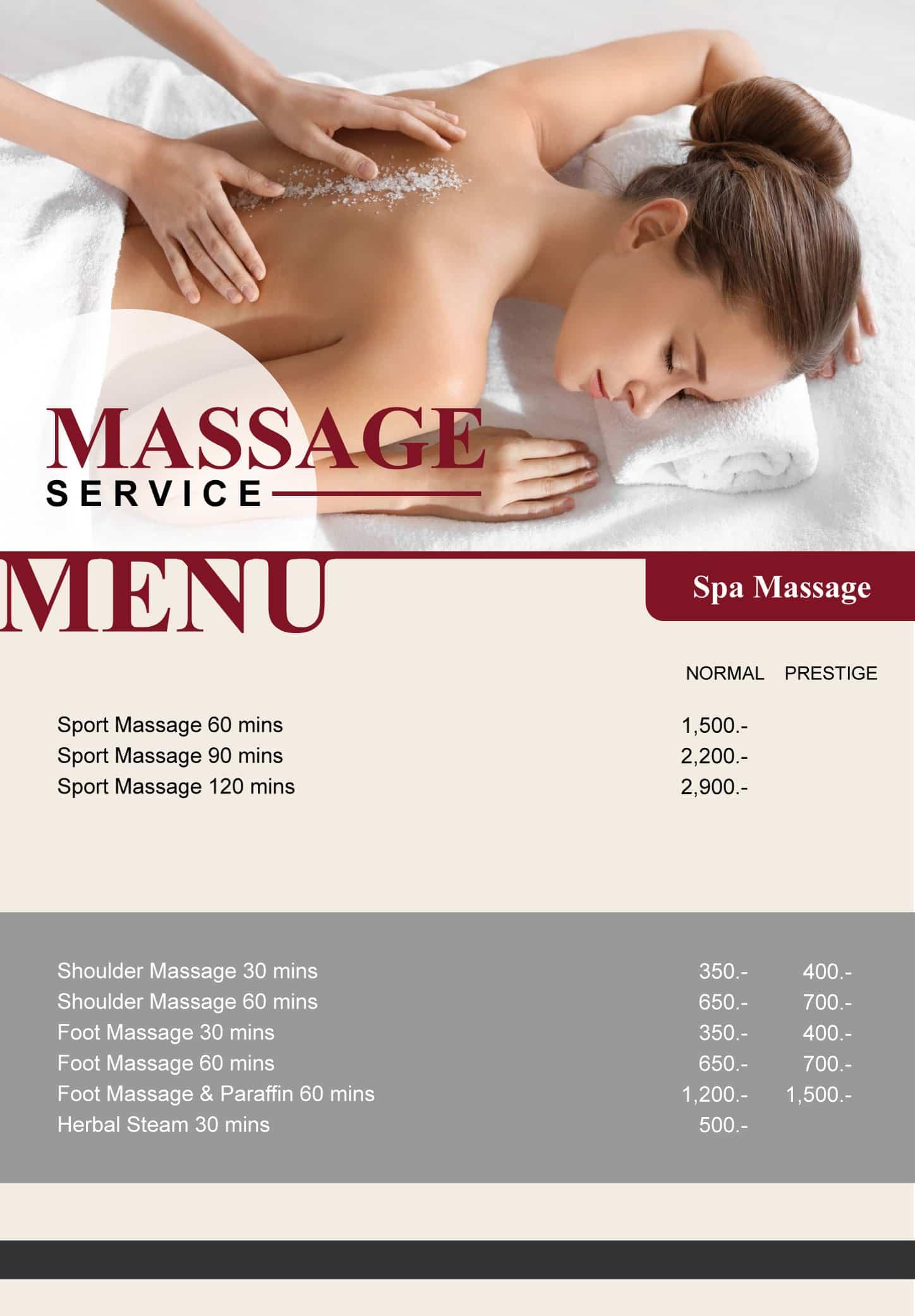 Massage Menu Online 24.11.2020